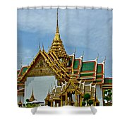 Reception Hall At Grand Palace Of Thailand In Bangkok Shower Curtain