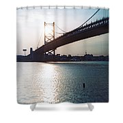 Recesky - Benjamin Franklin Bridge 1 Shower Curtain