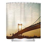 Recesky - Benjamin Franklin Bridge 2 Shower Curtain