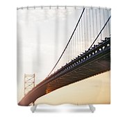 Recesky - Benjamin Franklin Bridge 3 Shower Curtain