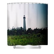 Recesky - Cape May Point Lighthouse 1 Shower Curtain