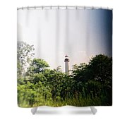 Recesky - Cape May Point Lighthouse 2 Shower Curtain