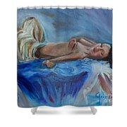 Reclining Beauty 111 Shower Curtain