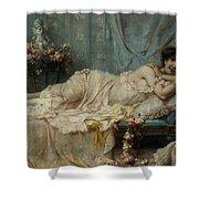 Reclining Beauty Shower Curtain