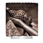 Reclining Buddha Shower Curtain by Adrian Evans