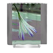 Reclining Lily Abstract Shower Curtain