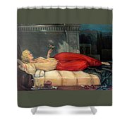 Reclining Woman Shower Curtain