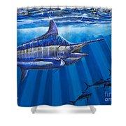 Record Off0011 Shower Curtain by Carey Chen