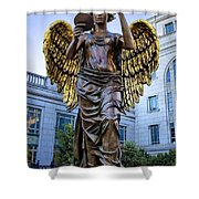 Recording Angel Shower Curtain
