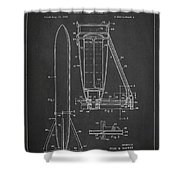 Recoverable Rocket Launching Unit Shower Curtain