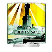 Recruiting Poster - Ww1 - For Liberty's Sake Shower Curtain