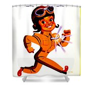Recruiting Poster - Ww2 - Army Air Forces Shower Curtain