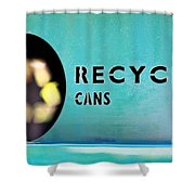 Recycle Cans Shower Curtain