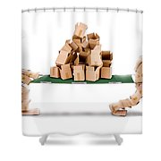 Recycling Boxes By Box Characters And Stretcher Shower Curtain