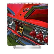 Red 1960 Chevy Shower Curtain