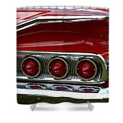 Red 1960 Chevy Tail Light Shower Curtain
