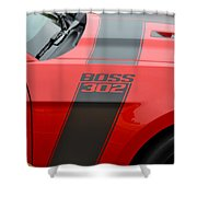 Red 302 Boss Mustang Shower Curtain