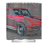 Red 65 Shower Curtain