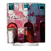Red Abandonment Shower Curtain