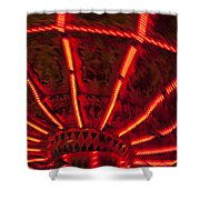 Red Abstract Carnival Lights Shower Curtain