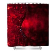 Red Abstract Shower Curtain
