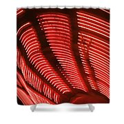 Red Abstract Light 15 Shower Curtain