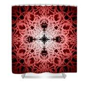 Red Shower Curtain by Adam Romanowicz