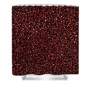 Red And Black Circles Shower Curtain