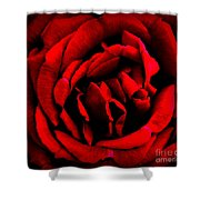 Red And Black Layers Shower Curtain
