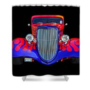 Red And Blue Custom Shower Curtain
