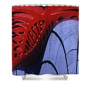 Red And Blue Fantasy Shower Curtain