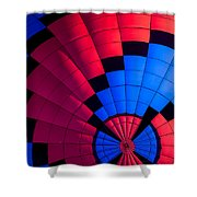 Red And Blue Pattern Shower Curtain