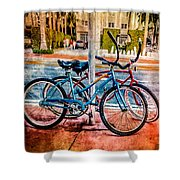 Red And Blue Rides Shower Curtain