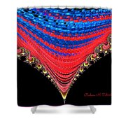 Red And Blue Shawl  Shower Curtain