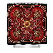 Red And Gold Celtic Cross Shower Curtain