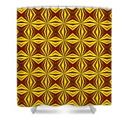 Red And Gold Christmas Abstract Shower Curtain