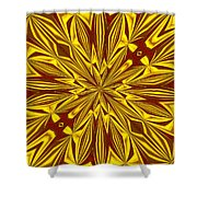 Red And Gold Christmas Kaleidescope Shower Curtain