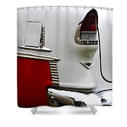 Red And White 1955 Chevy Shower Curtain