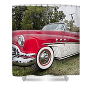 Red And White Classic Shower Curtain