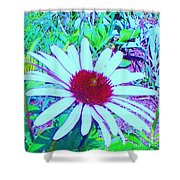 Red And White Flower Shower Curtain