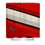 Red And White Ranchero Shower Curtain
