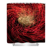 Red And White Shower Curtain