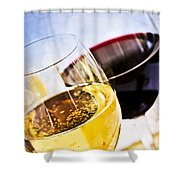 Red And White Wine Shower Curtain