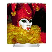 Red And Yellow Jester Shower Curtain