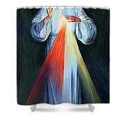Red And Yellow Lights Shower Curtain