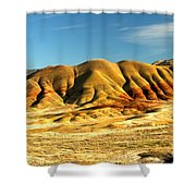 Red And Yellow Painted Hills Shower Curtain