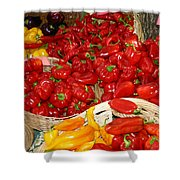 Red And Yellow Peppers Shower Curtain