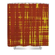 Red And Yellow Wave No 1 Shower Curtain