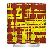 Red And Yellow Wave No 3 Shower Curtain