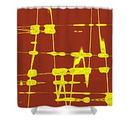 Red And Yellow Wave No 4 Shower Curtain